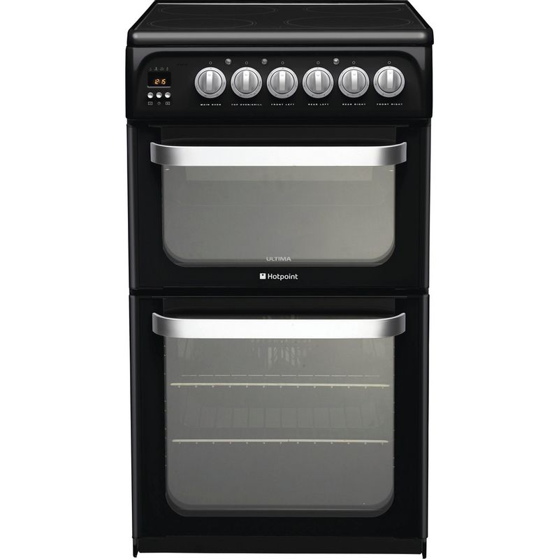 Hotpoint-Double-Cooker-HUE52K-S.0-Black-A-Vitroceramic-Frontal