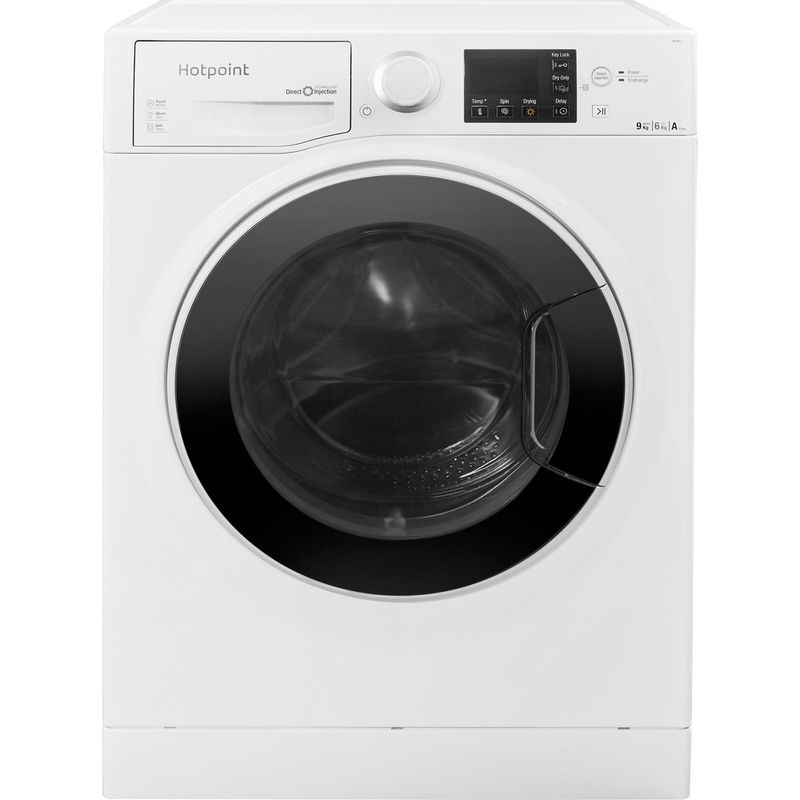 Hotpoint-Washer-dryer-Free-standing-RG-964-JD-UK-White-Front-loader-Frontal