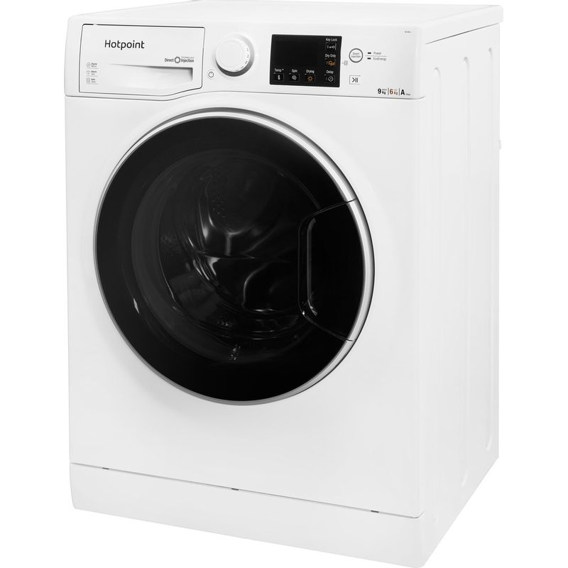 Hotpoint-Washer-dryer-Free-standing-RG-964-JD-UK-White-Front-loader-Perspective
