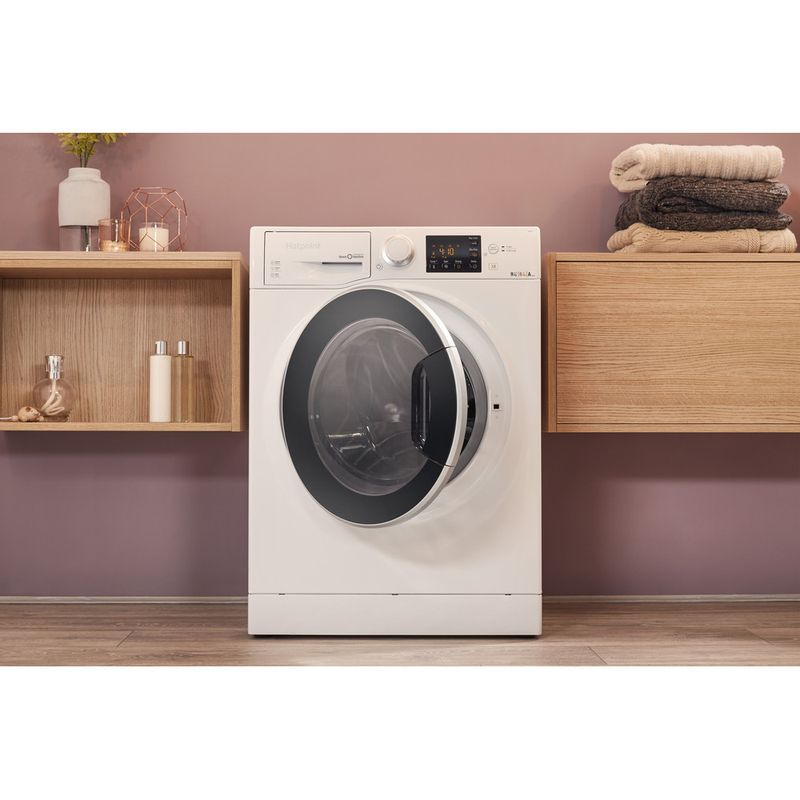Hotpoint-Washer-dryer-Free-standing-RG-964-JD-UK-White-Front-loader-Lifestyle_Frontal_Open