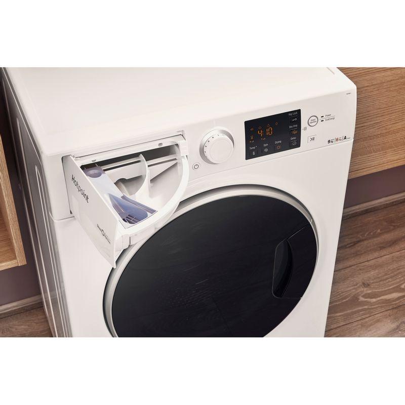 Hotpoint-Washer-dryer-Free-standing-RG-964-JD-UK-White-Front-loader-Drawer
