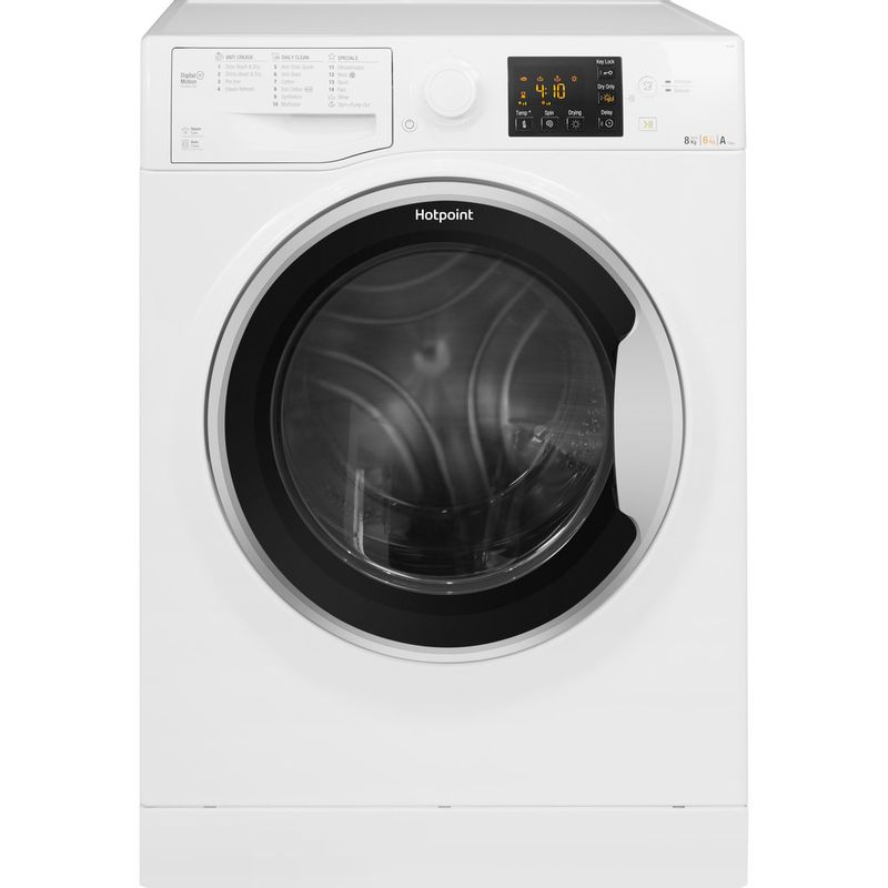 Hotpoint-Washer-dryer-Free-standing-RG-864-S-UK-White-Front-loader-Frontal