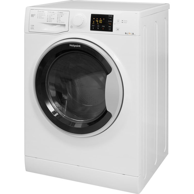 Hotpoint-Washer-dryer-Free-standing-RG-864-S-UK-White-Front-loader-Perspective