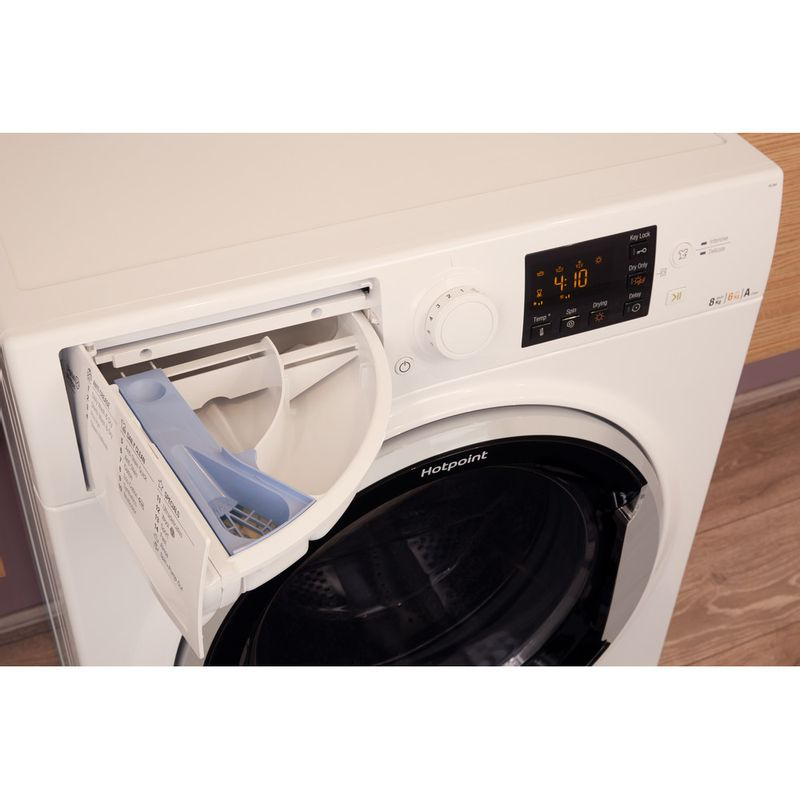 Hotpoint-Washer-dryer-Free-standing-RG-864-S-UK-White-Front-loader-Drawer