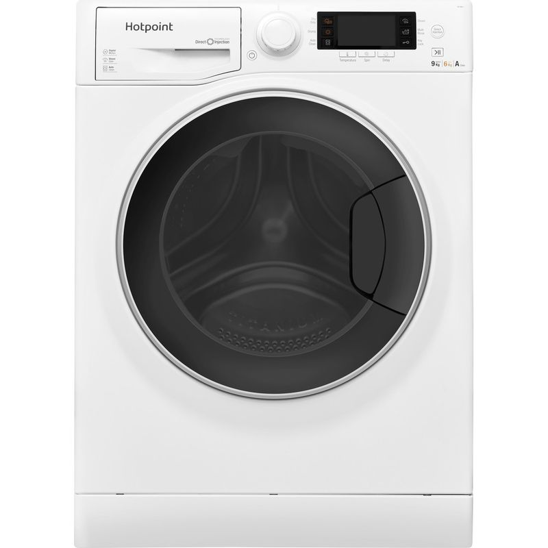 Hotpoint-Washer-dryer-Free-standing-RD-966-JD-UK-White-Front-loader-Frontal