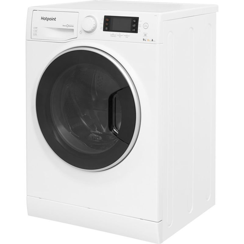 Hotpoint-Washer-dryer-Free-standing-RD-966-JD-UK-White-Front-loader-Perspective