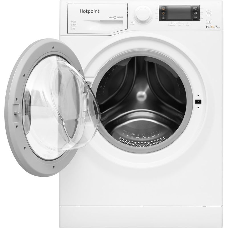 Hotpoint-Washer-dryer-Free-standing-RD-966-JD-UK-White-Front-loader-Frontal-open