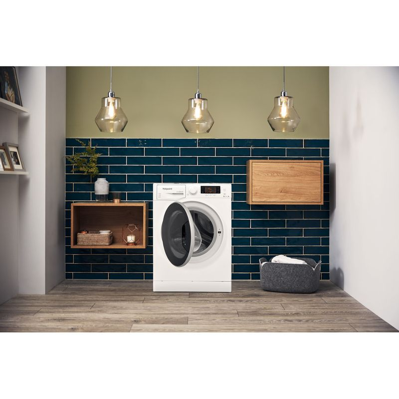 Hotpoint-Washer-dryer-Free-standing-RD-966-JD-UK-White-Front-loader-Lifestyle-frontal-open