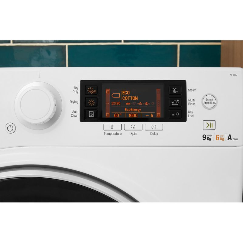 Hotpoint-Washer-dryer-Free-standing-RD-966-JD-UK-White-Front-loader-Lifestyle-control-panel
