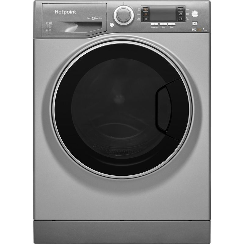 Hotpoint-Washer-dryer-Free-standing-RD-966-JGD-UK-Graphite-Front-loader-Frontal