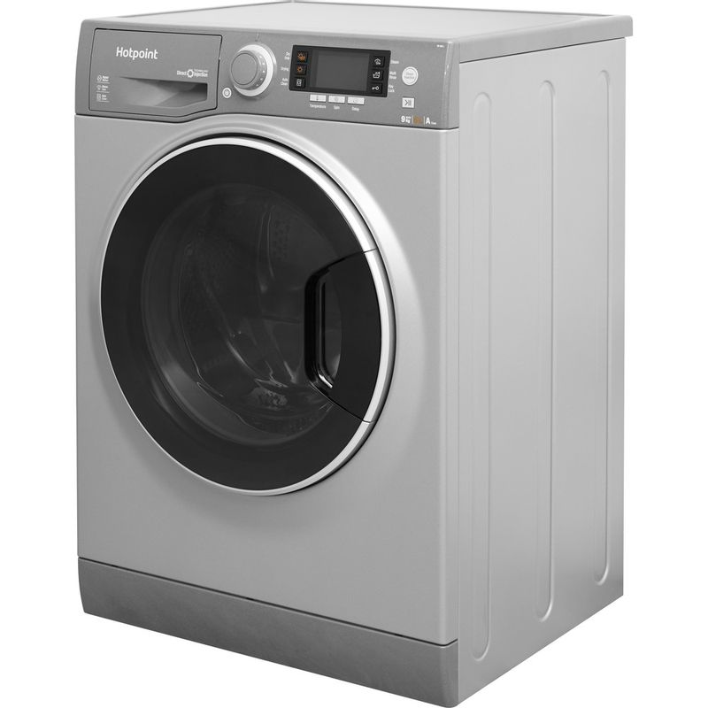Hotpoint-Washer-dryer-Free-standing-RD-966-JGD-UK-Graphite-Front-loader-Perspective