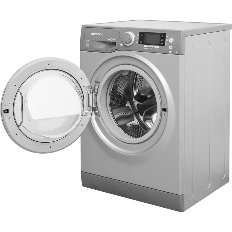 Hotpoint-Washer-dryer-Free-standing-RD-966-JGD-UK-Graphite-Front-loader-Perspective_Open