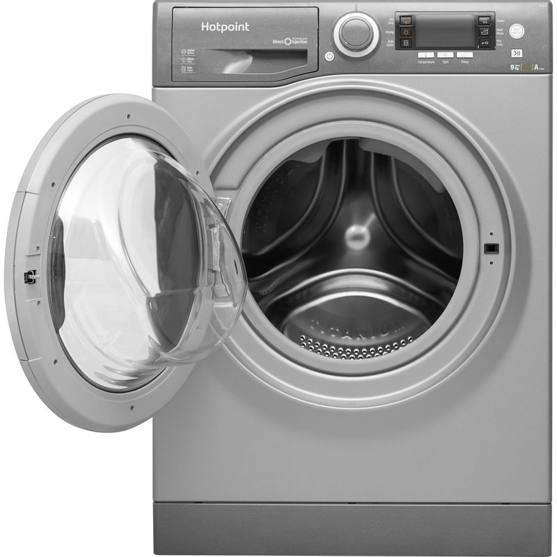 Hotpoint-Washer-dryer-Free-standing-RD-966-JGD-UK-Graphite-Front-loader-Frontal_Open
