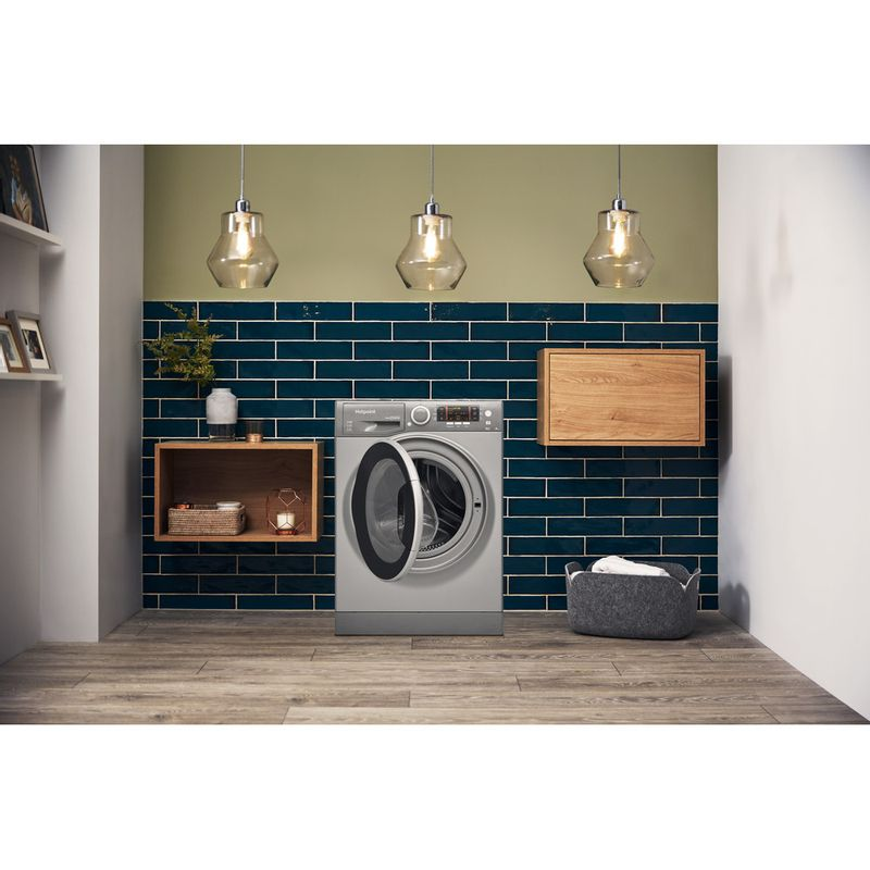 Hotpoint-Washer-dryer-Free-standing-RD-966-JGD-UK-Graphite-Front-loader-Lifestyle_Frontal_Open