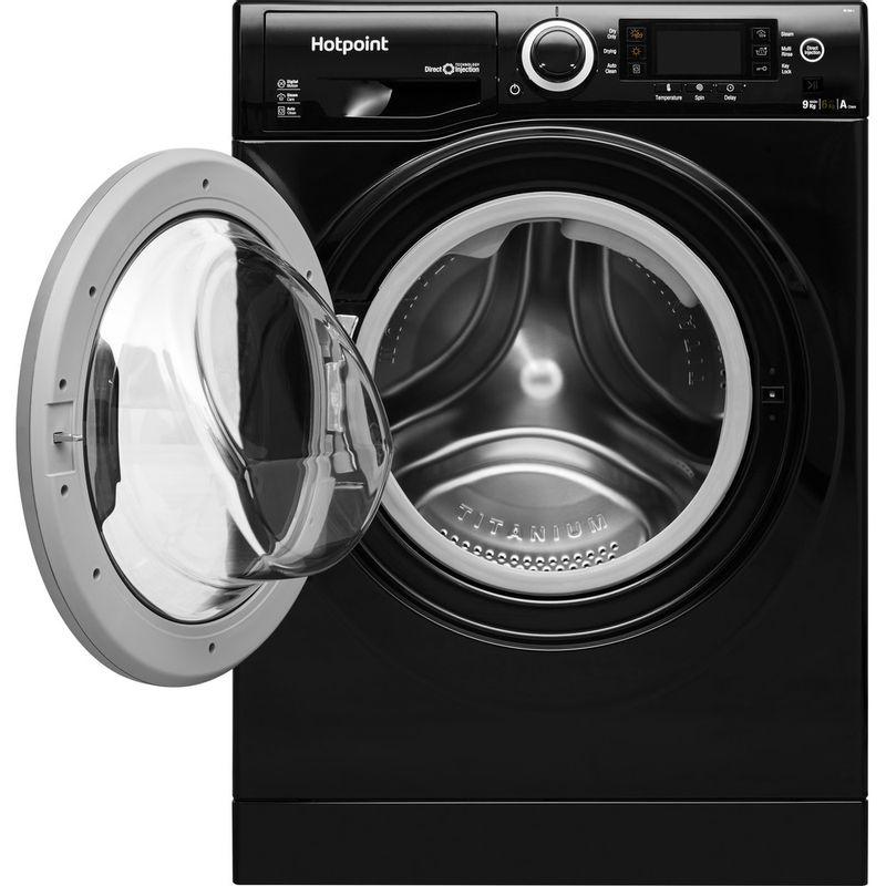 Hotpoint-Washer-dryer-Free-standing-RD-966-JKD-UK-Black-Front-loader-Frontal_Open