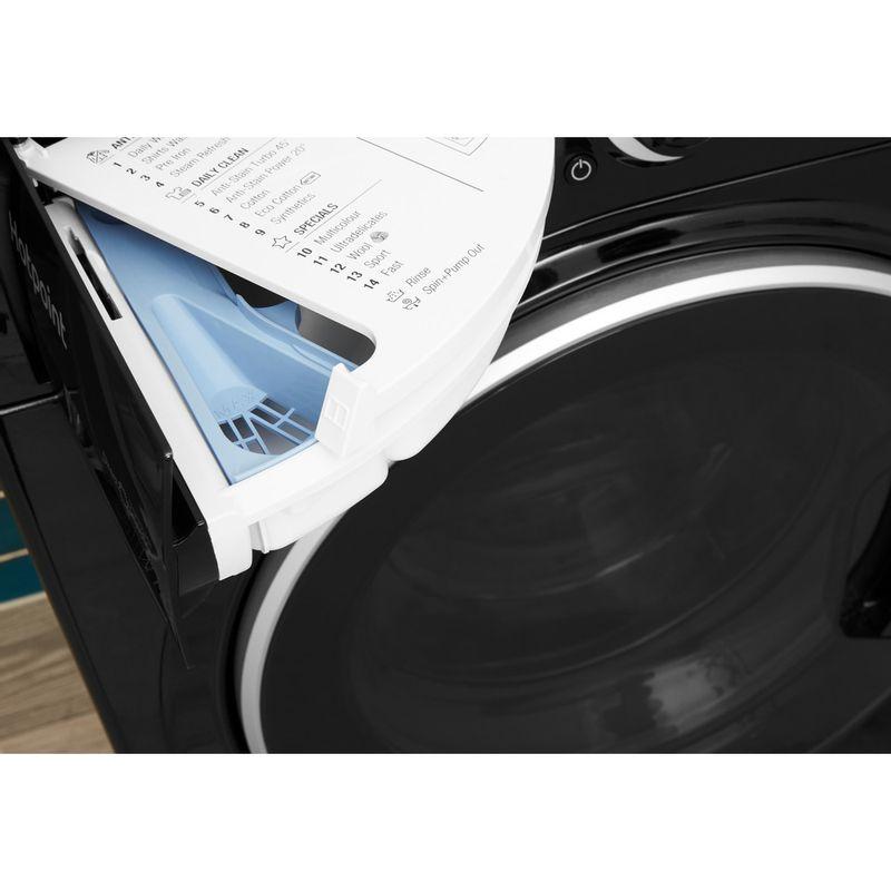 Hotpoint-Washer-dryer-Free-standing-RD-966-JKD-UK-Black-Front-loader-Drawer