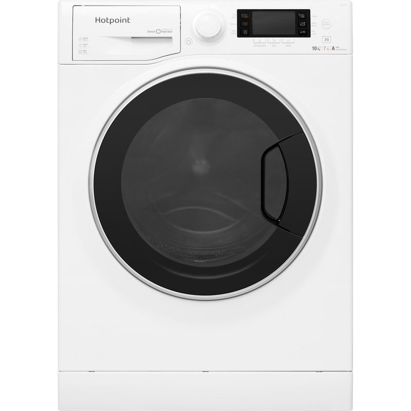 Hotpoint-Washer-dryer-Free-standing-RD-1076-JD-UK-White-Front-loader-Frontal