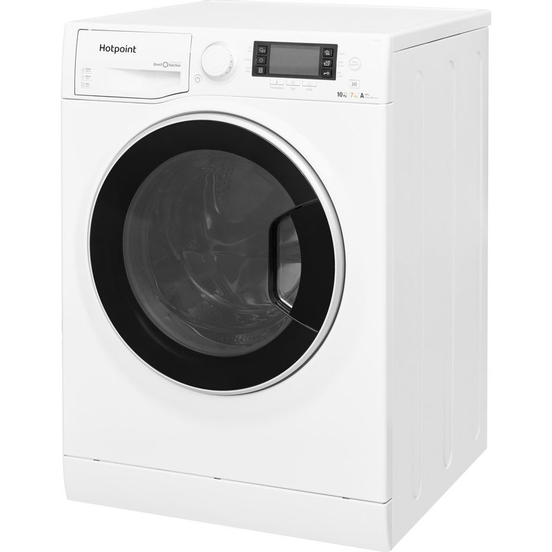 Hotpoint-Washer-dryer-Free-standing-RD-1076-JD-UK-White-Front-loader-Perspective