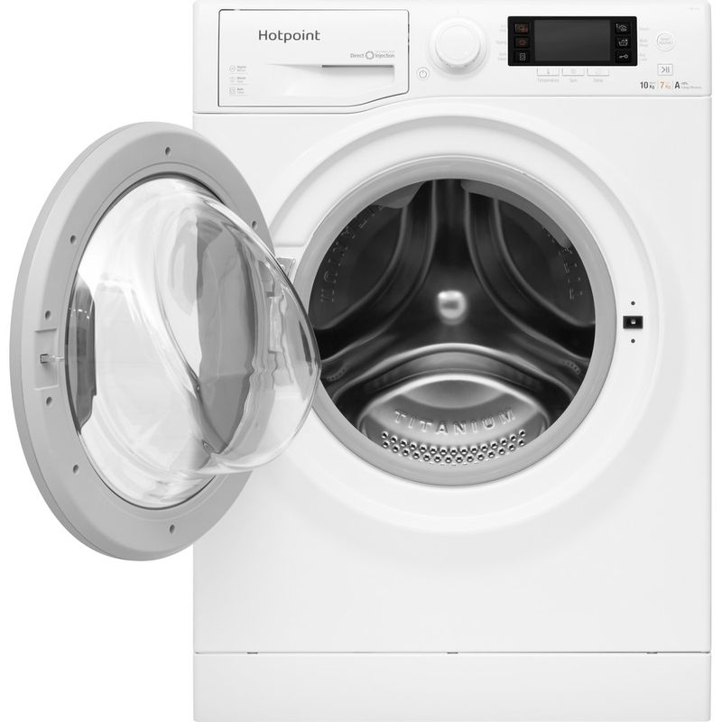 Hotpoint-Washer-dryer-Free-standing-RD-1076-JD-UK-White-Front-loader-Frontal-open