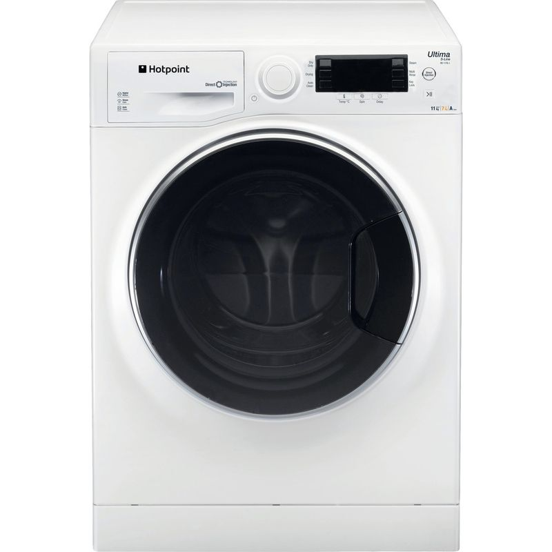 Hotpoint-Washer-dryer-Free-standing-RD-1176-JD-UK-White-Front-loader-Frontal