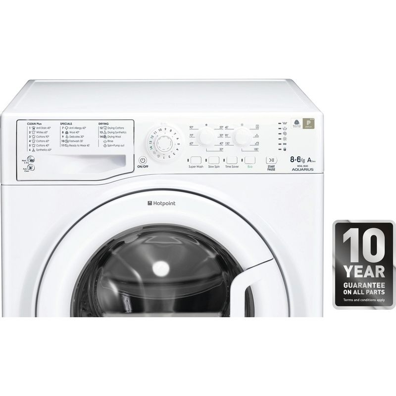 Hotpoint-Washer-dryer-Free-standing-WDAL-8640P-UK-White-Front-loader-Award
