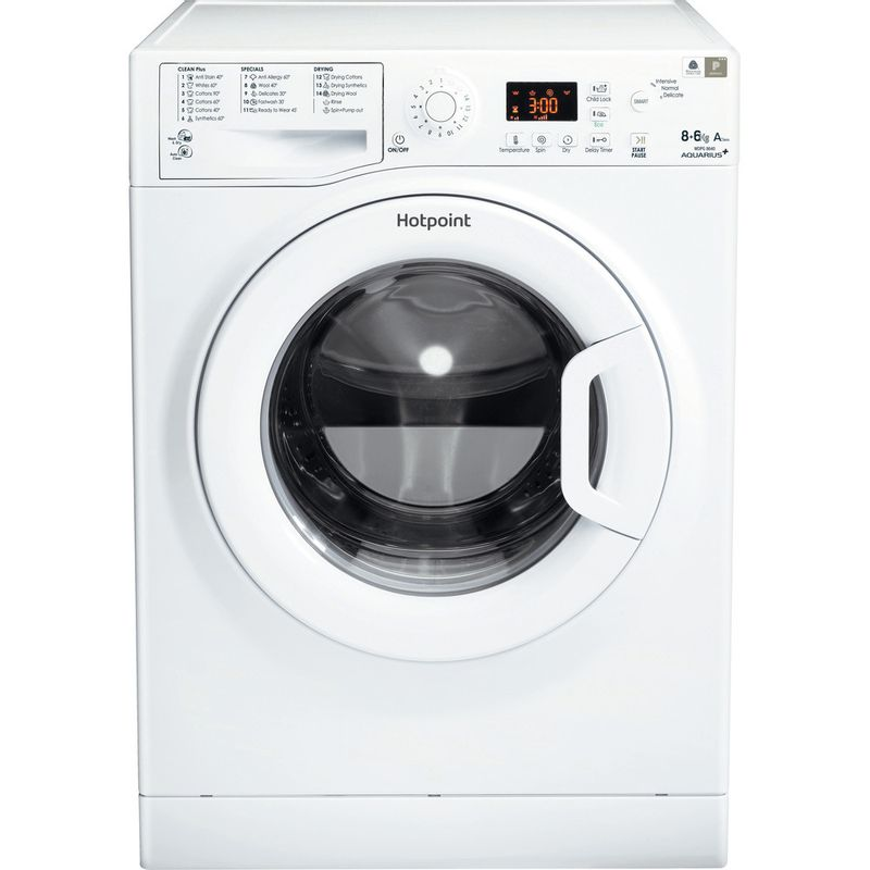 Hotpoint-Washer-dryer-Free-standing-WDPG-8640P-UK-White-Front-loader-Frontal
