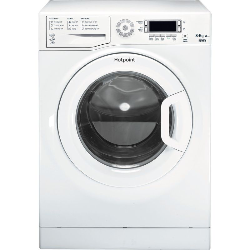 Hotpoint-Washer-dryer-Free-standing-WDXD-8640P-UK-White-Front-loader-Frontal