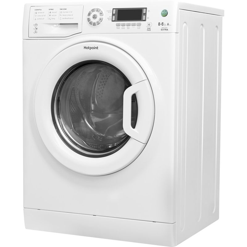 Hotpoint-Washer-dryer-Free-standing-WDXD-8640P-UK-White-Front-loader-Perspective