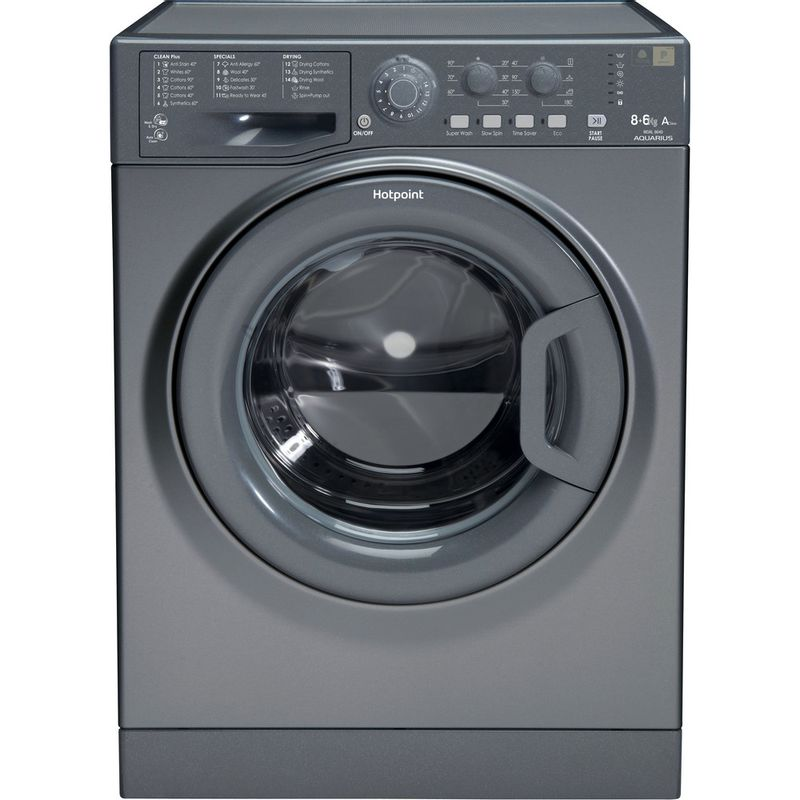 Hotpoint-Washer-dryer-Free-standing-WDAL-8640G-UK-Graphite-Front-loader-Frontal
