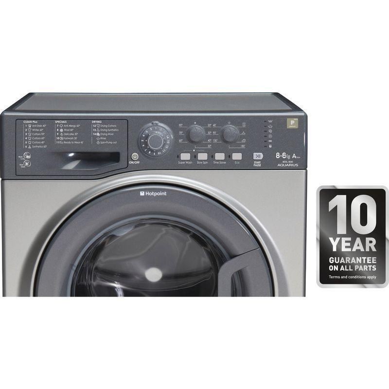 Hotpoint-Washer-dryer-Free-standing-WDAL-8640G-UK-Graphite-Front-loader-Award