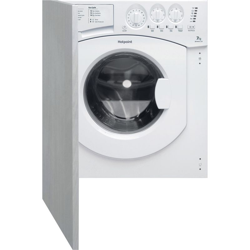Hotpoint-Washing-machine-Built-in-BHWM-129--UK--2-White-Front-loader-A---Frontal