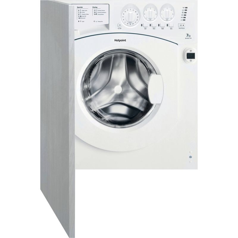 Hotpoint-Washer-dryer-Built-in-BHWD-149--UK--1-White-Front-loader-Frontal