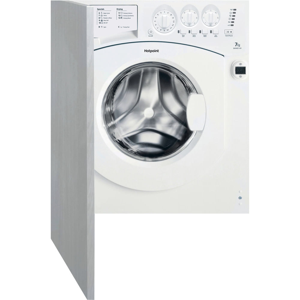 Hotpoint Integrated Washer Dryer BHWD 149 (UK)/1 : discover the specifications of our home appliances and bring the innovation into your house and family.