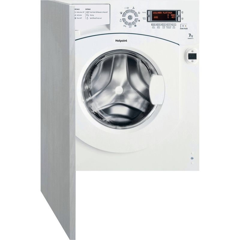 Hotpoint-Washer-dryer-Built-in-BHWDD-74--UK--White-Front-loader-Frontal