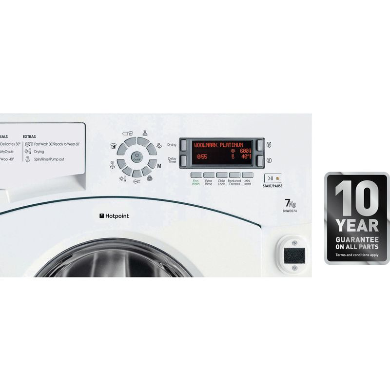 Hotpoint-Washer-dryer-Built-in-BHWDD-74--UK--White-Front-loader-Award