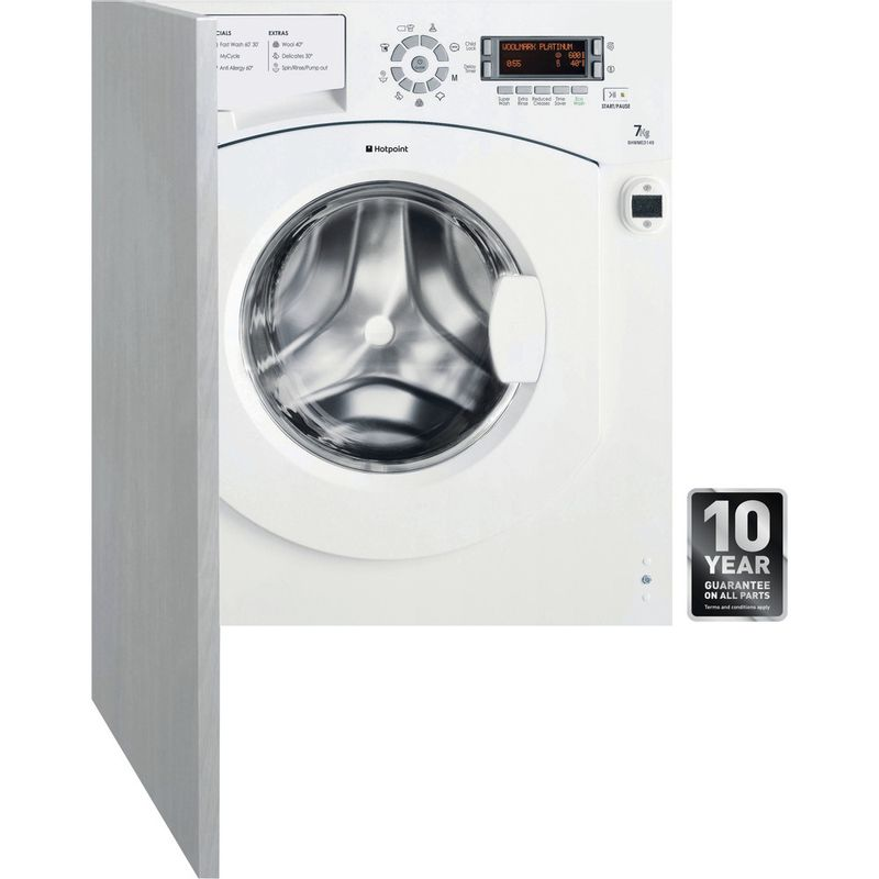 Hotpoint-Washing-machine-Built-in-BHWMED-149-UK-White-Front-loader-A---Frontal