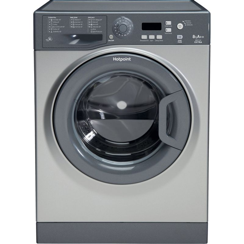 Hotpoint-Washing-machine-Free-standing-WMXTF-842G-UK.R-Graphite-Front-loader-A---Frontal