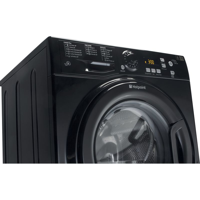 Hotpoint-Washing-machine-Free-standing-WMXTF-842K-UK.R-Black-Front-loader-A---Lifestyle_Perspective
