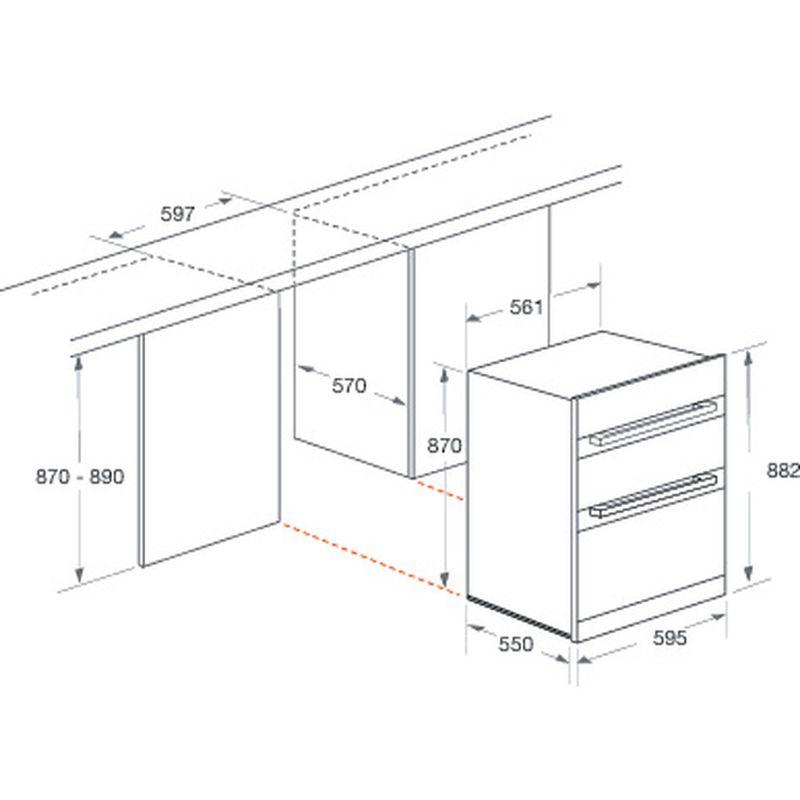 Hotpoint-Double-oven-DXU7-912-C-IX-Inox-B-Technical-drawing
