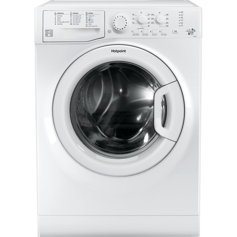 Hotpoint-Washing-machine-Free-standing-FML-942P-UK-White-Front-loader-A---Frontal