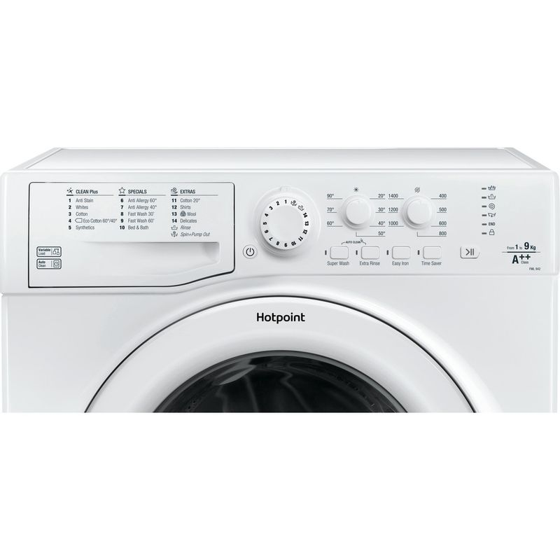 Hotpoint-Washing-machine-Free-standing-FML-942P-UK-White-Front-loader-A---Control_Panel