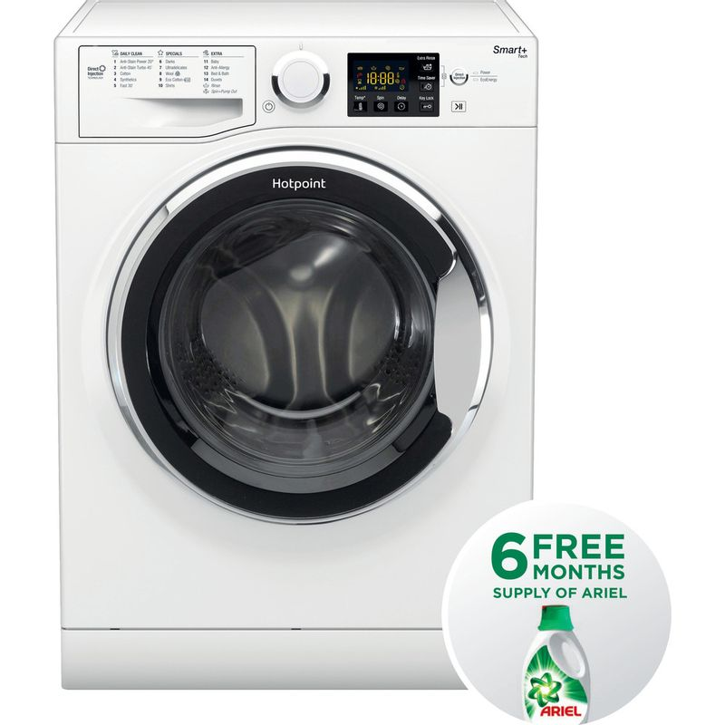 Hotpoint-Washing-machine-Free-standing-RSG-845-JX-UK-White-Front-loader-A----Frontal