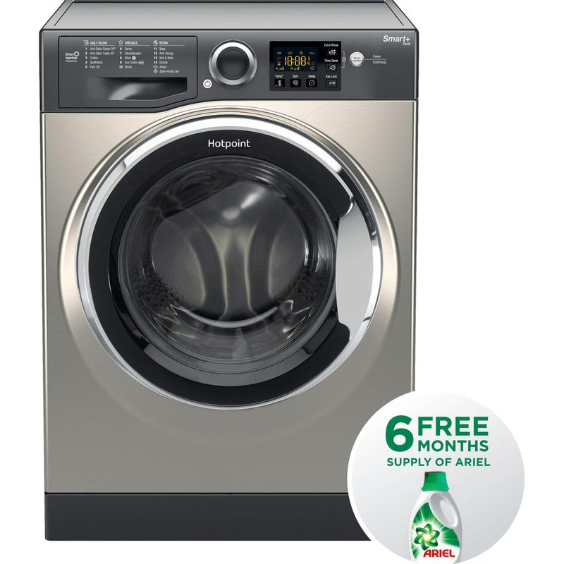 Hotpoint-Washing-machine-Free-standing-RSG-845-JGX-UK-Graphite-Front-loader-A----Frontal