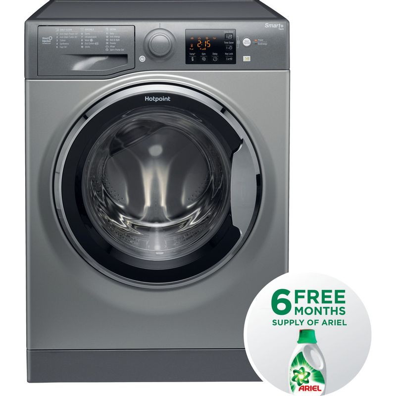 Hotpoint-Washing-machine-Free-standing-RSG-964-JGX-UK-Graphite-Front-loader-A----Frontal