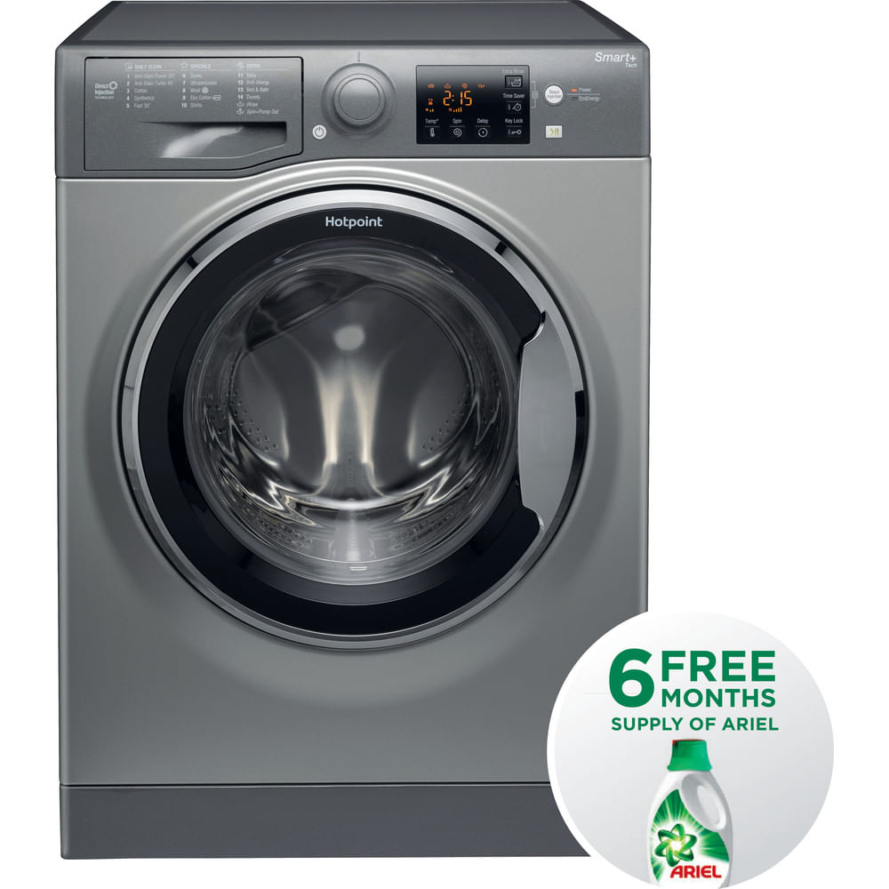 Hotpoint Freestanding Washing Machine RSG 964 JGX UK : discover the specifications of our home appliances and bring the innovation into your house and family.