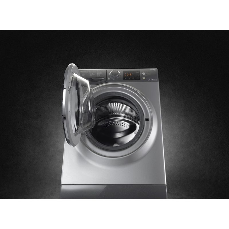 Hotpoint-Washing-machine-Free-standing-RSG-964-JGX-UK-Graphite-Front-loader-A----Lifestyle_Frontal_Open