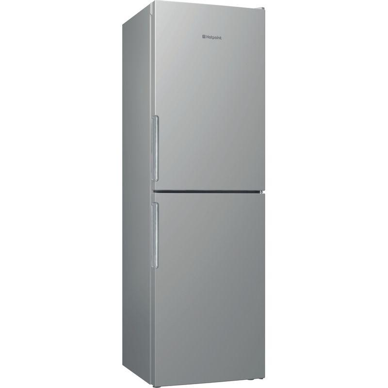 Hotpoint-Fridge-Freezer-Free-standing-LAO85-FF1I-G-UK-Graphite-2-doors-Perspective