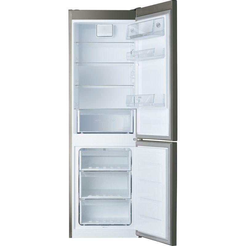Hotpoint-Fridge-Freezer-Free-standing-H8-A1E-SB-UK-Silver-Black-2-doors-Frontal_Open