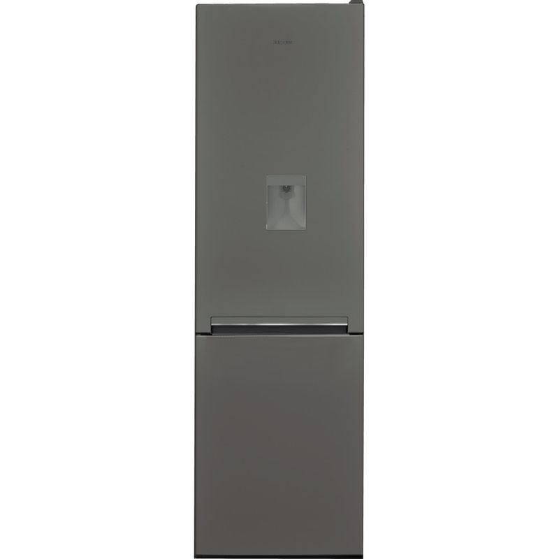 Hotpoint-Fridge-Freezer-Free-standing-H8-A1E-SB-WTD-UK-Silver-Black-2-doors-Frontal