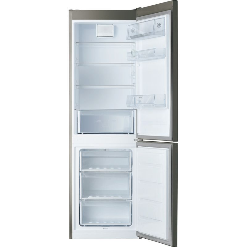 Hotpoint-Fridge-Freezer-Free-standing-H8-A1E-SB-WTD-UK-Silver-Black-2-doors-Frontal_Open